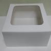 กล่องเค้ก กล่องเค้ก 1 ปอนด์ ทรงสูงพิเศษ กล่องเค้กฟองดอง กล่องขนม กล่องเบเกอรี่ กล่องคัพเค้ก สีขาว 20.3x20.3x15ซม. 10ใบ/แพ็ค