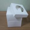 กล่องคัพเค้ก 1 ชิ้น สีขาว พร้อมฐานรองคัพเค้ก