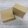 กล่องสแน็ค กล่องเค้ก กล่องขนม ขนาด 10.0 x 10.0 x 4.7 ซม. Snack Box กล่องอาหารว่าง กล่องคอฟฟี่เบรค สีคราฟท์น้ำตาลอ่อน