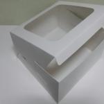 กล่องเค้ก กล่องเค้ก 1 ปอนด์ กล่องขนม กล่องเบเกอรี่ กล่องคัพเค้ก สีขาว 20.5x20.5x10ซม. 20ใบ/แพ็ค