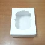 กล่องสแน็ค กล่องอาหารว่าง Snack Box กล่องคอฟฟี่เบรค กล่องคัพเค้ก แบบมีหน้าต่าง สีขาว ขนาด 15.0 x 15.0 x 7.6 ซม.