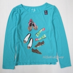 1036 Gap Kids Long Sleeve - Turquoise ขนาด M(8-9) ปี