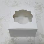 กล่องสแน็ค กล่องอาหารว่าง สีขาว ขนาด 12.8 x 12.8 x 7.0 ซม.