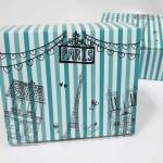 กล่องสแน็ค กล่องอาหารว่าง ลายฟ้า ปารีส ขนาด 15.5 x 11.5 x 6.0 ซม.