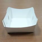 ถาดใส่ขนม/ถาดขนมปัง/ถาดชิม/ถาดกระดาษ สีขาว กว้าง 7.9 x ยาว 8.8 x สูง 3.6 ซม. สำเนา