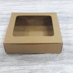 กล่องขนม กล่องบราวนี่ 15.8 x 12.5 x 4 ซม.กล่องทาร์ตไข่ คราฟท์น้ำตาล (20 ใบต่อแพ็ค)