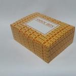 กล่องสแน็ค กล่องอาหารว่าง Snack Box ลายส้มเหลือง ขนาด 15.5 x 11.5 x 6.0 ซม.
