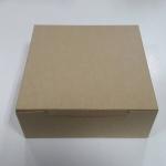 กล่องขนม 18x18x7 ซม. กล่องเค้ก กล่องคัพเค้ก กล่องบราวนี่ กล่องชิฟฟ่อน กล่องช้อคโกแล็ต กล่องคุ๊กกี้ กล่องสแน็ค สีคราฟท์น้ำตาลอ่อน