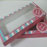 กล่องบราวนี่ 3-4 ชิ้น กล่องทรงแบน กล่องช็อคโกแลต กล่องขนมฟู้ดเกรด กว้าง 10.0 x ยาว 22.0 x สูง 3.0 ซม.