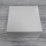 กล่องไม่มีหน้าต่าง (ฝาทึบ) 20.4x20.4.0x9.5 ซม.กล่องเค้ก 1 ปอนด์ กล่องคัพเค้ก กล่องบราวนี่ กล่องชิฟฟ่อน กล่องช้อคโกแล็ต กล่องคุ๊กกี้ กล่องขนม สีขาว