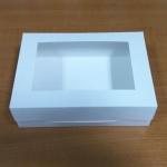 กล่องอาหาร กล่องขนม มีฝาพับปิด สีขาว 18.5x11.5x5.0ซม.125 บาท (20ใบ)