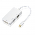 Mini DP/Thunderbolt to HDMI/VGA/DVI Adapter 3 in 1