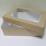 กล่องอาหารแบบเคลือบกันซึม มีฝาปิด size XL 23.4x16.3x6.5ซม.ราคา 300 บาท (20ใบ)