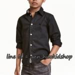 1957 H&M Shirt - Black ขนาด 7-8 ปี (ส่งฟรี ลทบ.)