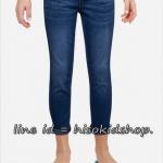 1830 Justice knit waist capri jeans - Dark wash กางเกงยีนส์ขอบเอวยางยืดค่ะ เนือยีนส์นุ่มยืดหยุ่นตามตัว ขนาด 8 ปี