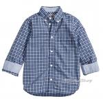 1670 H&M Cotton Shirt - Checked/Blue (งานแท้ 100%) ขนาด 10-11 ปี