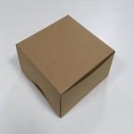 กล่องสแน็ค กล่องอาหารว่าง Snack Box กล่องคอฟฟี่เบรค กล่องคัพเค้ก แบบไม่มีหน้าต่าง สีคราฟท์น้ำตาล ขนาด 15.0x15.0x7.6 ซม.