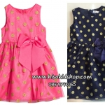 1106 H&M Jersey Dress - Pink/Navy Blue ขนาด 2-4,4-6 ปี