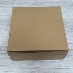 กล่องไม่มีหน้าต่าง (ฝาทึบ) 20.4x20.4.0x9.5 ซม.กล่องเค้ก 1 ปอนด์ กล่องคัพเค้ก กล่องบราวนี่ กล่องชิฟฟ่อน กล่องช้อคโกแล็ต กล่องคุ๊กกี้ กล่องขนมสีคราฟท์น้ำตาล