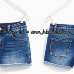1837 Zara short jeans - Blue ขนาด 8, 9-10, 11-12,13-14 ปี