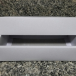 กล่องแบบมีฝาครอบ สีขาว