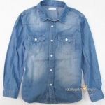 1120 GU Denim Shirt - Blue ขนาด 130