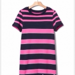 1676 Gap Kids Striped Dress - Pink ขนาด S(6-7),M(8),L(10) ปี