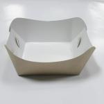ถาดใส่ขนม/ถาดขนมปัง/ถาดชิม/ถาดกระดาษคราฟท์ กว้าง 7.9 x ยาว 8.8 x สูง 3.6 ซม.