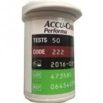 แถบตรวจน้ำตาลในเลือด Accu-Chek Performa แพค 50 ชิ้น