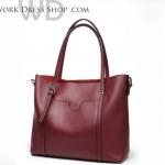 Pre-order กระเป๋าหนังแท้ งานสวยมาก มีสี ไวน์แดง , ดำ , น้ำตาล , ขาวOff White , เขียว , เทา
