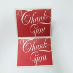 ป้ายขอบคุณ Thank You ลายแดงขาว ป้ายของวัญ ป้ายห้อยสินค้า