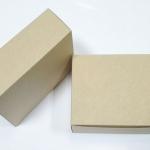 กล่องสแน็ค กล่องอาหารว่าง ลายคราฟท์ ขนาด 15.5 x 11.5 x 6.0 ซม.