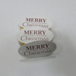 ป้ายเทศกาล Merry Christmas ลายน้ำตาล ป้ายของวัญ ป้ายห้อยสินค้า