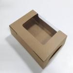 กล่องทรงหน้าต่างวีเชฟ 22.0x15.0x5.0ซม.กล่องทาร์ตไข่ กล่องเค้ก กล่องคัพเค้ก กล่องบราวนี่ กล่องชิฟฟ่อน กล่องช้อคโกแล็ต กล่องคุ๊กกี้ กล่องขนม สีคราฟท์น้ำตาล