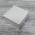 กล่องสแน็ค กล่องอาหารว่าง Snack Box กล่องคอฟฟี่เบรค กล่องคัพเค้ก แบบไม่มีหน้าต่าง สีขาว ขนาด 13.5 x 13.5 x 7.0 ซม.