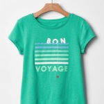 1850 Gap Kids T-Shirt - Green ขนาด 10,14-16 ปี