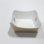 ถาดใส่ขนม/ถาดขนมปัง/ถาดชิม/ถาดอาหารฟู้ดเกรด คราฟท์ขาว-หลังน้ำตาล กว้าง 8.0 x ยาว 7.0 x สูง 4.0 ซม.