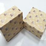กล่องสแน็ค กล่องอาหารว่าง ลายแบร์แฟมิลี่ (100 ใบ/แพ็ค) กว้าง12.7 x ยาว12.7 x สูง 6.5 ซม.