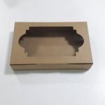 กล่องใส่ทาร์ต กล่องทาร์ตไข่ ทาร์ตบราวนี่ ทาร์ตสับปะรด ทาร์ตสตรอเบอรี่ ทาร์ตบลูเบอรี่ ทาร์ตผลไม้ ทาร์ตเผือก กล่องทาร์ต ลายคราฟท์น้ำตาล กว้าง 26 x ยาว 14 x สูง 4 ซม.