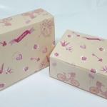 กล่องสแน็ค 15.5x11.5x6.0 ซม. (100 ใบ/แพ็ค) กล่องอาหารว่าง ลายวินเทจ