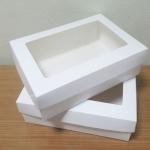 กล่องอาหารแบบไม่เคลือบกันซึม มีฝาปิด สีขาว size XL 23.4x16.3x6.5ซม.ราคา 260 บาท (20ใบ)
