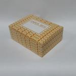 กล่องสแน็ค 15.5x11.5x6.0 ซม. (100 ใบ/แพ็ค) กล่องอาหารว่าง ลาย Snack box เหลือง