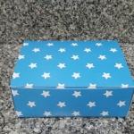 กล่องสแน็ค กล่องอาหารว่าง ลายฟ้าดวงดาว ขนาด 15.5 x 11.5 x 6.0 ซม.