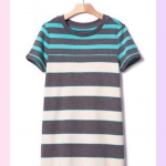 1677 Gap Kids Striped Dress - Garden Green ขนาด S(6-7),M(8) ปี