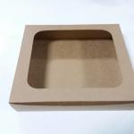 กล่องบราวนี่ กล่องชิฟฟ่อน กล่องเค้กครึ่งปอนด์ กล่องทาร์ตไข่ กล่องขนมเปี๊ยะ กล่องพาย กล่องช็อกโกแลต ลายคราฟท์น้ำตาล กว้าง 20.0 x ยาว 20.0 x สูง 5.0 ซม.