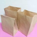 ถุงกระดาษ ถุงกระดาษน้ำตาล ถุงใส่ขนม ถุงใส่ของชำร่วย ถุงสแน็ค ถุงใส่อาหารว่าง กว้าง 14.5xหนา9.5xสูง27.0cm