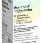 Accutrend แผ่นตรวจ triglycerides 25 s