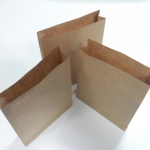 ถุงกระดาษ ถุงกระดาษน้ำตาล ถุงใส่ขนม ถุงใส่ของชำร่วย ถุงสแน็ค ถุงใส่อาหารว่าง กว้าง 12.5xหนา3xสูง15.2cm