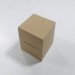 กล่องเค้กโรล / กล่องขนม / กล่องคัพเค้ก 1 ชิ้น / กล่องเค้ก 1 ชิ้น ลายคราฟท์หน้าขาวหลังน้ำตาล กว้าง 9.0 x ยาว 9.0 x สูง 9.0 ซม.