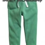 1861 H&M Joggers - Green ขนาด 10-11 ปี